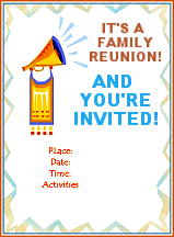 Printable Family Reunion Booklet Flyers Invitations Banners Iron On  Templates  Family Reunion Flyer