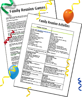 Family Reunion Themes And Activies