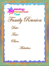 Printable Family Reunion Booklet Flyers Invitations Banners Iron ...