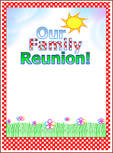Format: Word Compatible Document (.doc)  Free Printable Family Reunion Templates